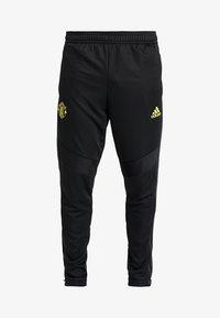 adidas Performance - Manchester United - Teplákové kalhoty - black/solar grey - 5