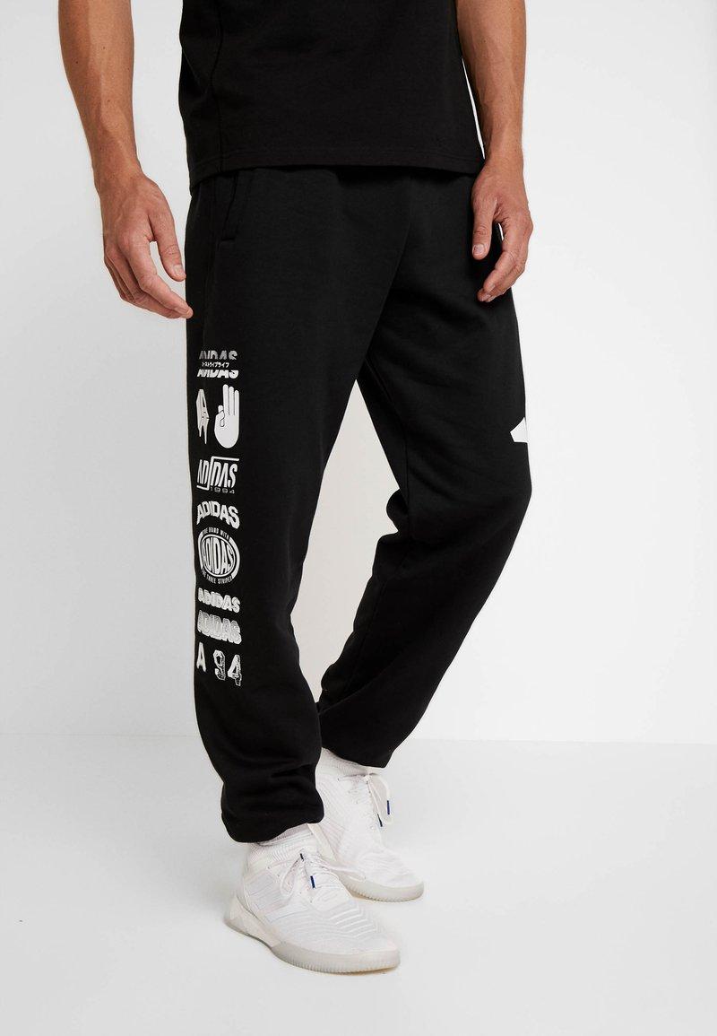 adidas Performance - ATHLETICS PACK SPORT TAPERED SWEAT PANT - Pantalones deportivos - black