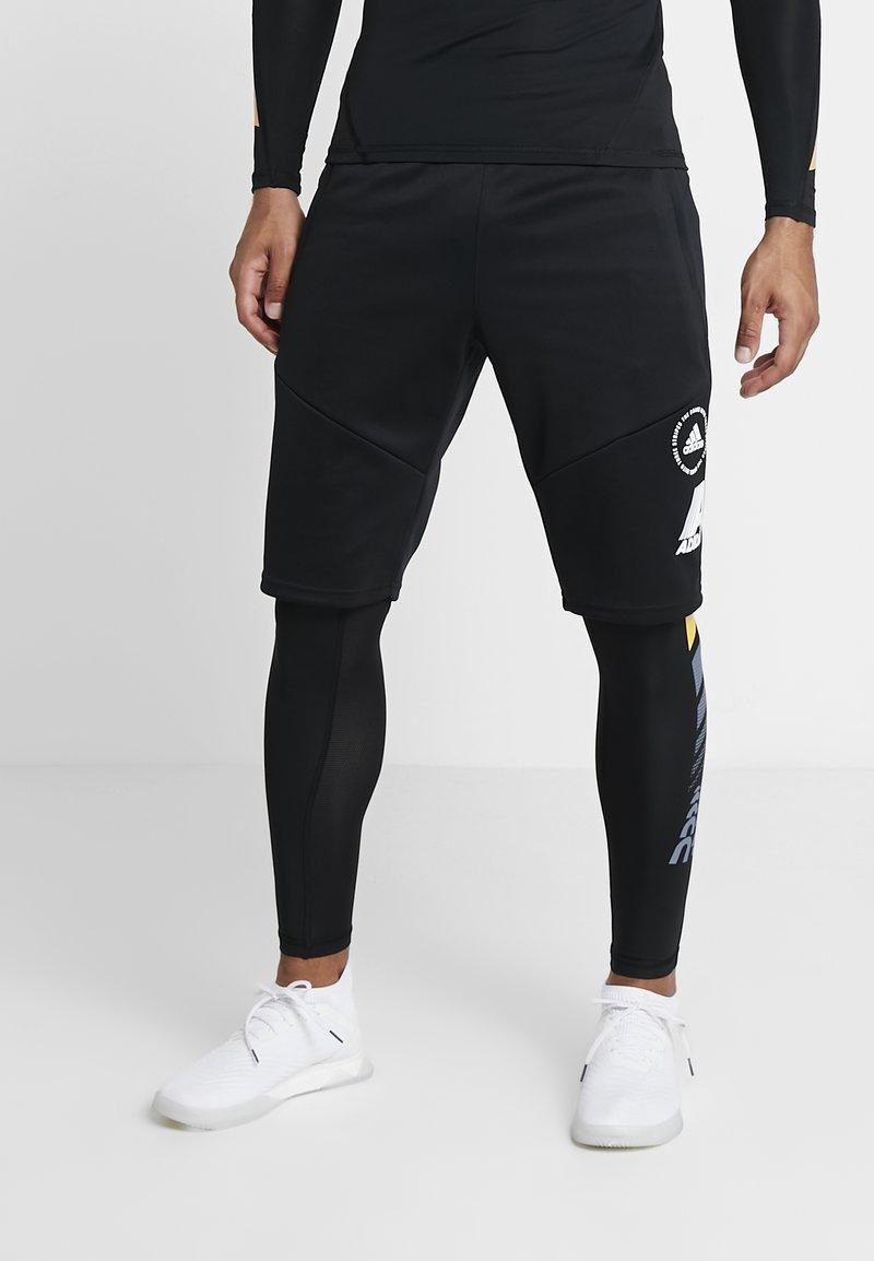 adidas Performance - ALPHASKIN SPORT MOTO LIGHTWEIGHT LEGGING - Långkalsonger - black
