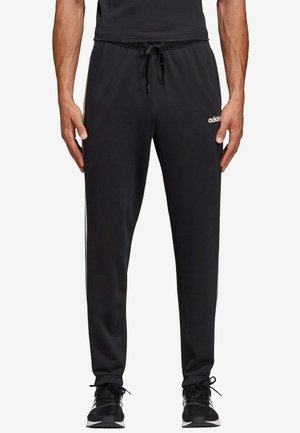 ESSENTIALS 3STRIPES FRENCH TERRY SPORT PANTS - Verryttelyhousut - black