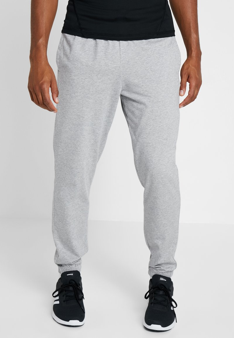 adidas Performance - Tracksuit bottoms - medium grey heather/black