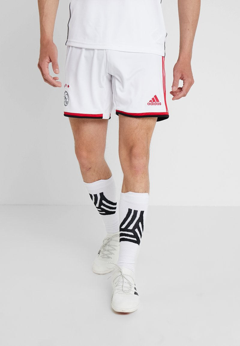 adidas Performance - AJAX AMSTERDAM H SHO - Krótkie spodenki sportowe - white/bold red/black