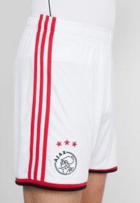 adidas Performance - AJAX AMSTERDAM H SHO - Korte broeken - white/bold red/black - 5