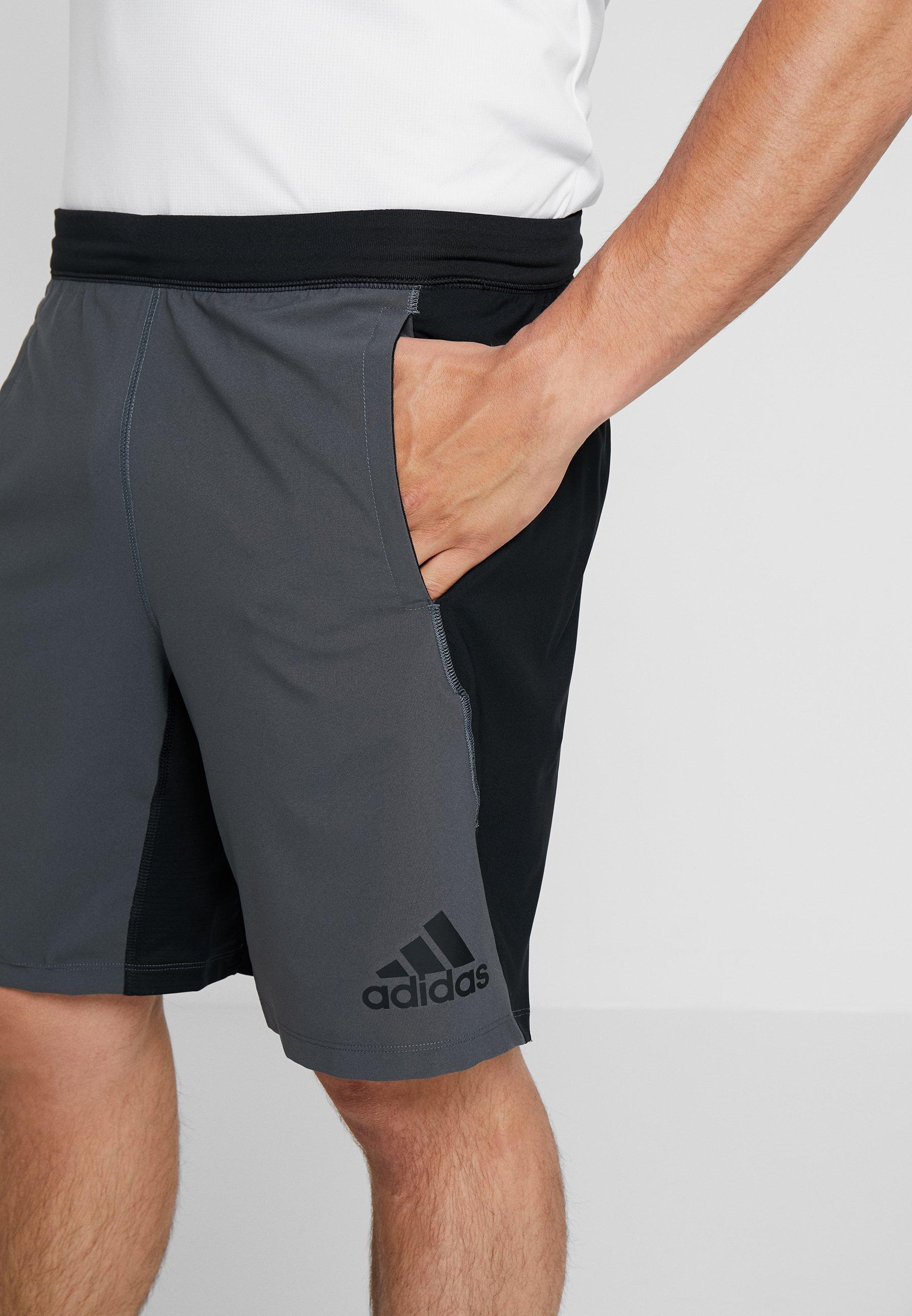 adidas Performance 4KRFT SPORT 10-INCH LIGHTWEIGHT SHORTS - Short de sport black/grey six