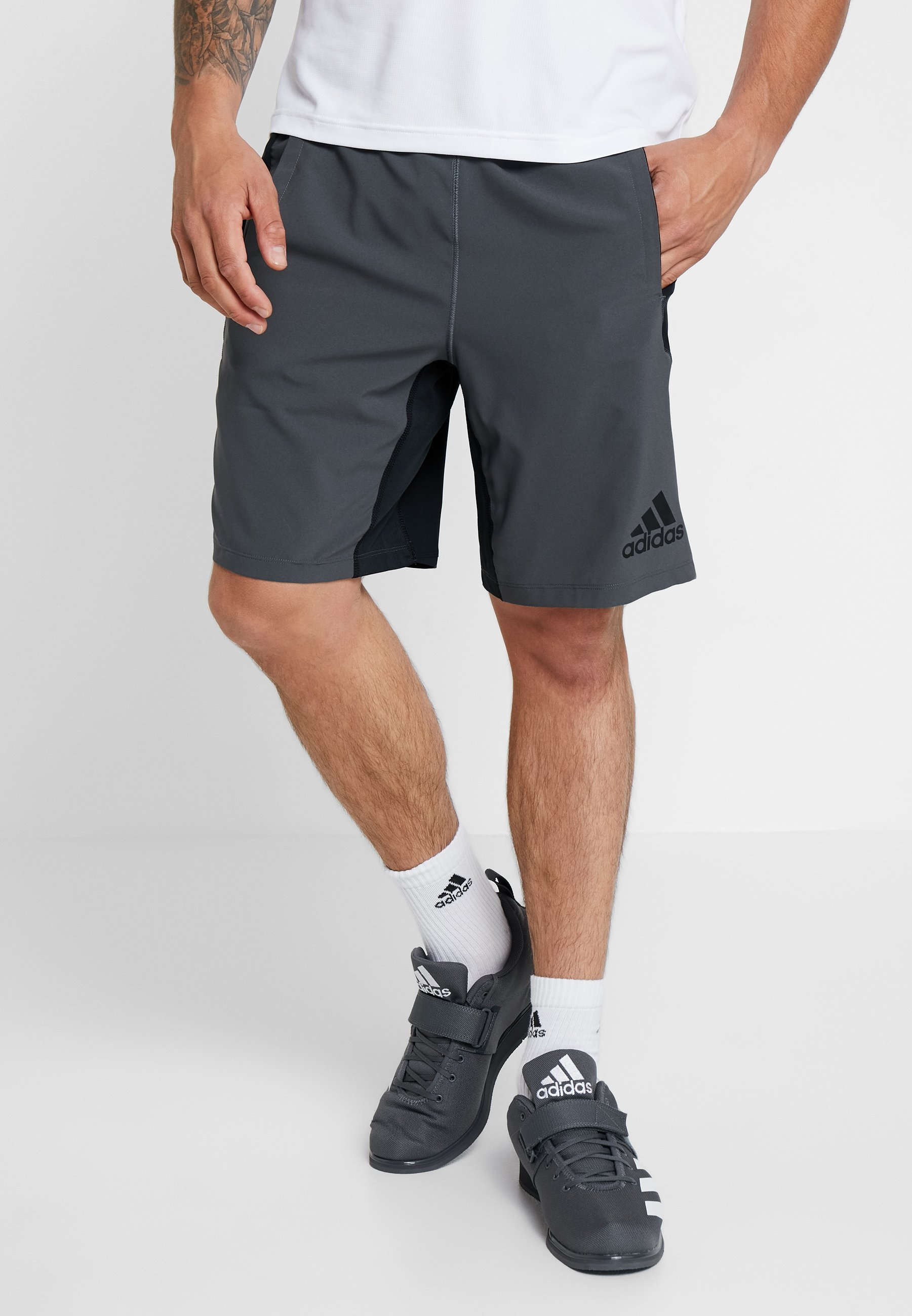 Short De Adidas SportBlack Six Performance grey OvN0w8nm