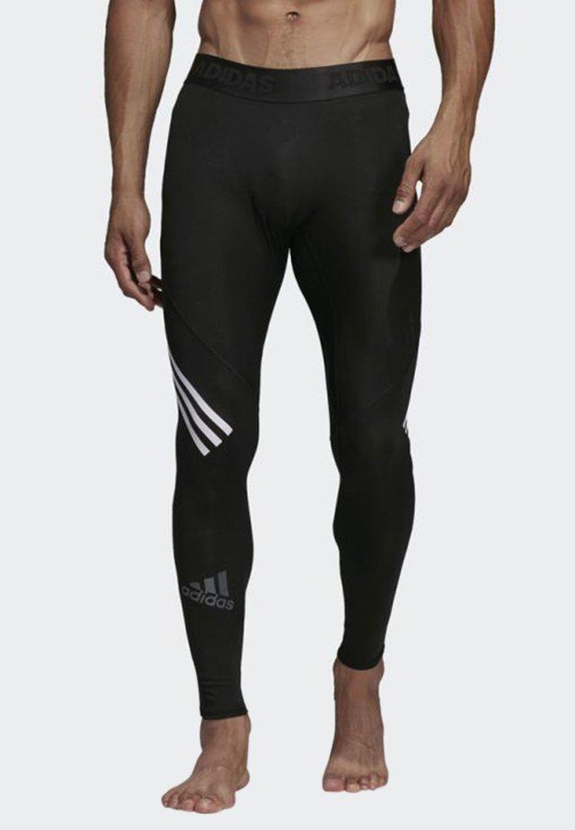 Alphaskin Sport+ Long 3-Stripes Tights - Trikoot - black