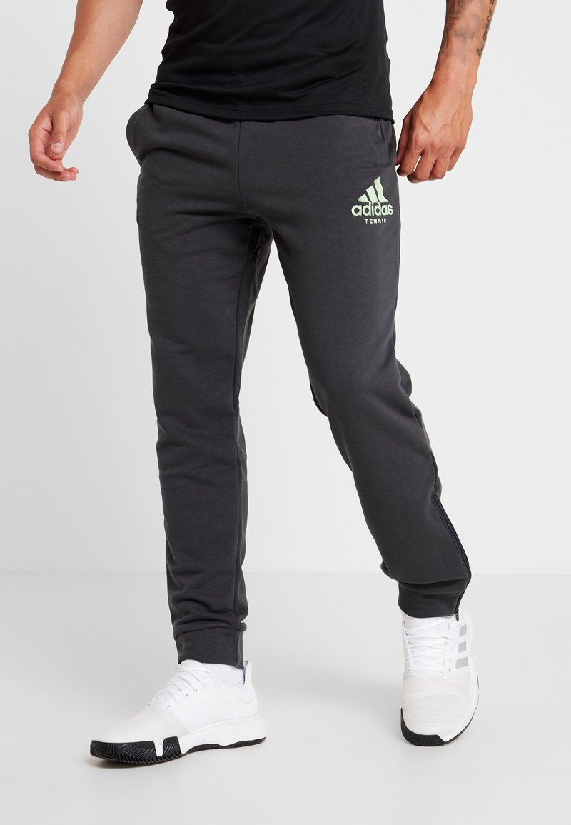 adidas Performance - CAT PANT - Tracksuit bottoms - carbon