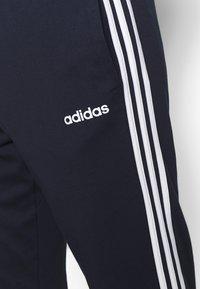 adidas Performance - ESSENTIALS 3-STRIPES TAPERED OPEN HEM PANTS - Pantalones deportivos - legend ink/white - 5
