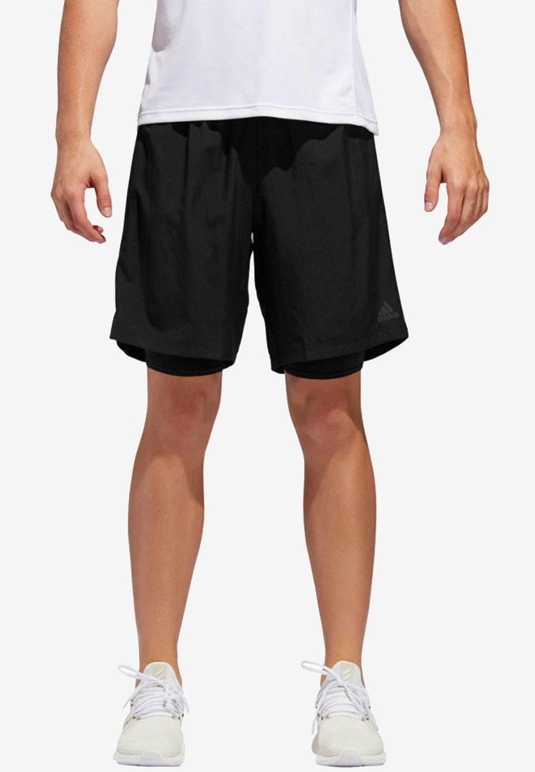 adidas Performance - OWN THE RUN TWO-IN-ONE SHORTS - Shorts - black
