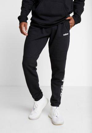 CAMO LIN PANT - Trainingsbroek - black/white