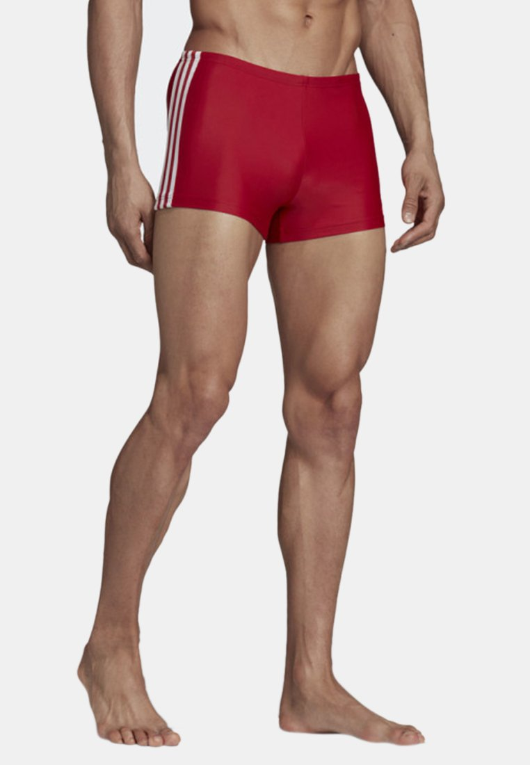 adidas Performance - STRIPES SWIM BOXERS - Badeshorts - red