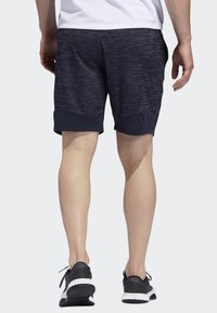 adidas Performance - 4KRFT SPORT STRIPED HEATHER SHORTS - Träningsshorts - blue - 1