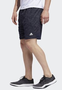 adidas Performance - 4KRFT SPORT STRIPED HEATHER SHORTS - Träningsshorts - blue - 2