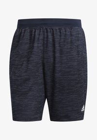 adidas Performance - 4KRFT SPORT STRIPED HEATHER SHORTS - Träningsshorts - blue - 7