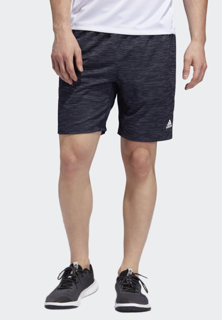 adidas Performance - 4KRFT SPORT STRIPED HEATHER SHORTS - Träningsshorts - blue
