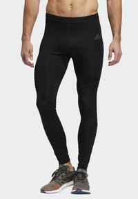 adidas Performance - OWN THE RUN LONG TIGHTS - Tracksuit bottoms - black - 0