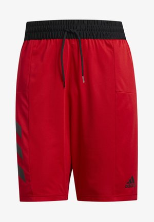 SPORT 3-STRIPES SHORTS - kurze Sporthose - red