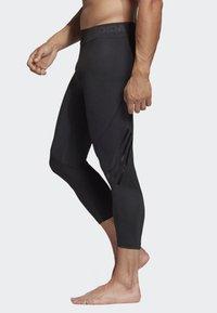 adidas Performance - ALPHASKIN 3/4 3-STRIPES TIGHTS - 3/4 sportsbukser - black - 2