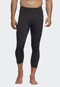 adidas Performance - ALPHASKIN 3/4 3-STRIPES TIGHTS - 3/4 sportsbukser - black - 0