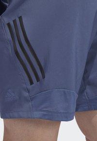 adidas Performance - 4KRFT TECH WOVEN 3-STRIPES SHORTS - Urheilushortsit - blue - 6