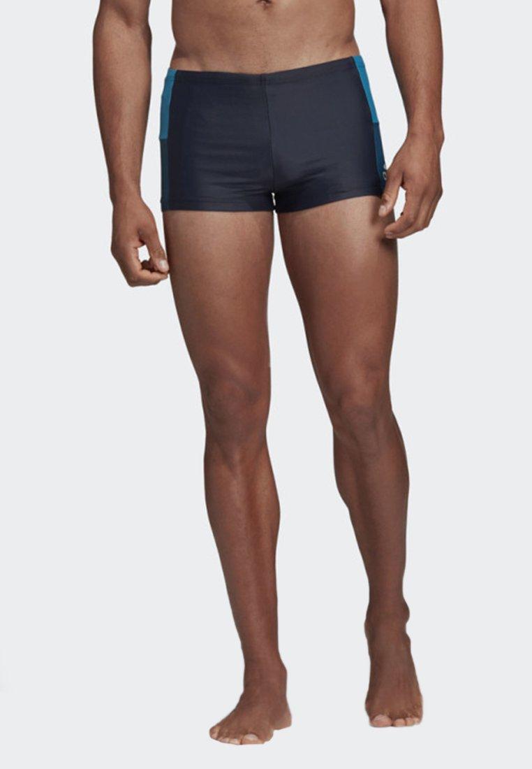 adidas Performance - FITNESS COLORBLOCK SWIM BOXER - Swimming trunks - blue