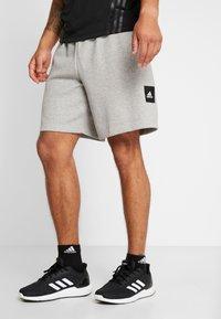 adidas Performance - MUST HAVE ENHANCED ATHLETICS SPORT SHORTS - kurze Sporthose - medium grey heather - 0