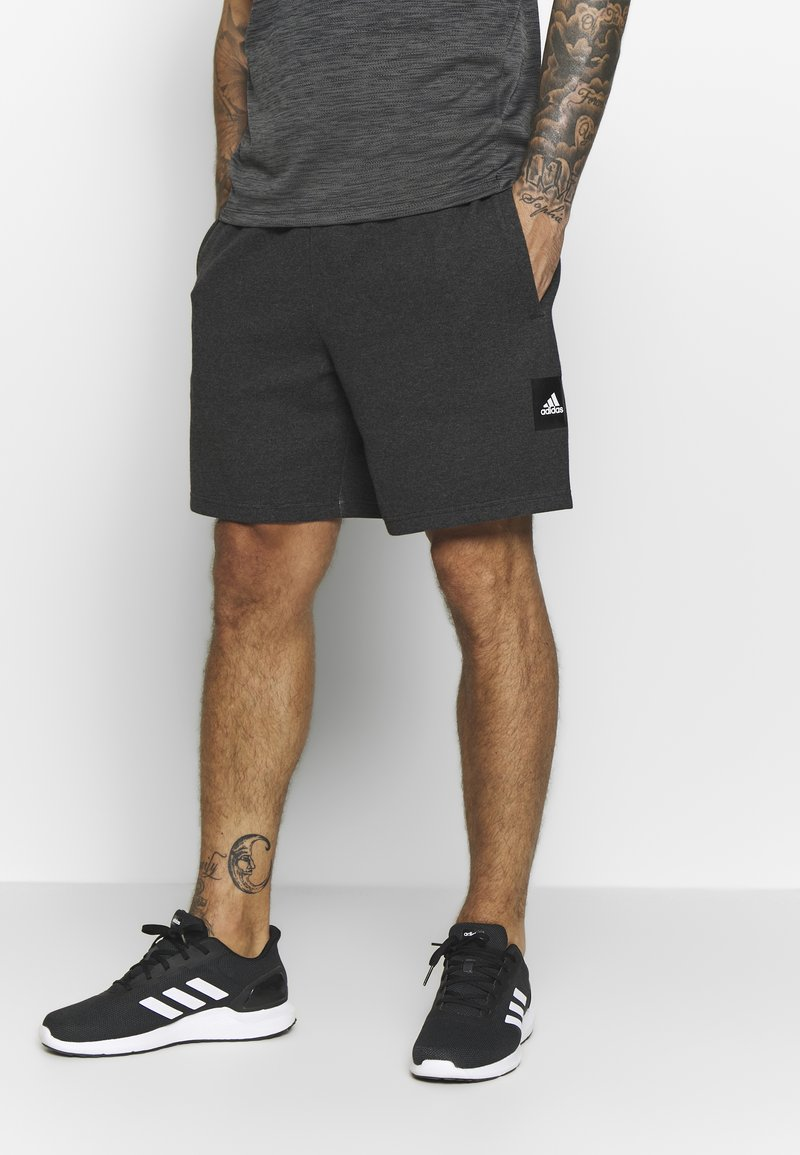 adidas Performance - MUST HAVE ENHANCED ATHLETICS SPORT SHORTS - Korte sportsbukser - black melange