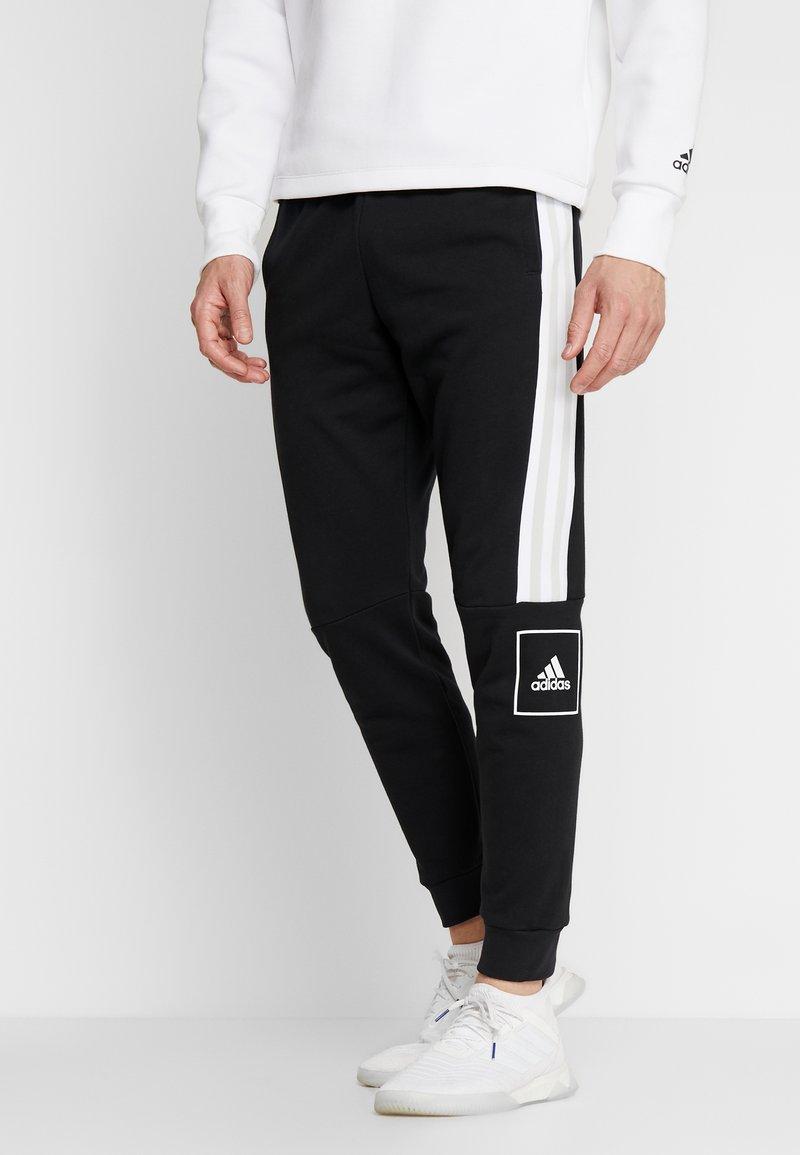 adidas Performance - SLIM PANT - Spodnie treningowe - black