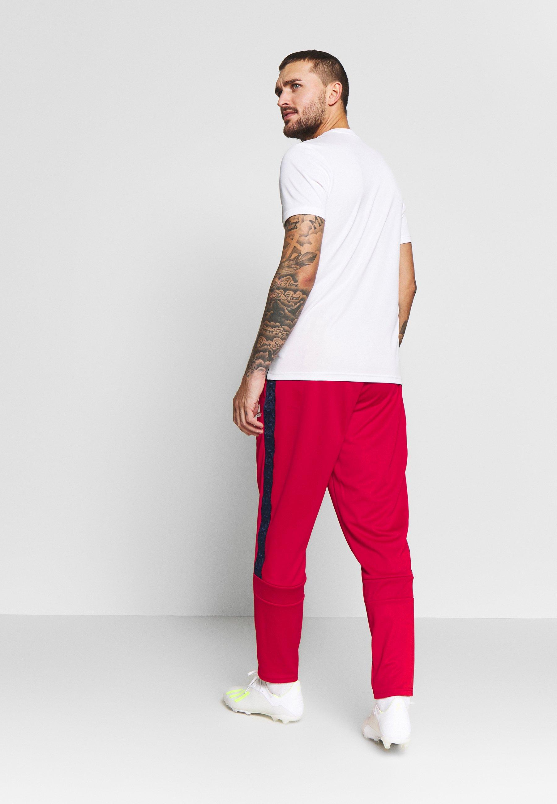 adidas Performance TAN CLUB PANT - Pantaloni sportivi - scarle