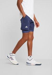 adidas Performance - 2-IN1- SHORT HEAT.RDY - Urheilushortsit - tech indigo/dash green - 0