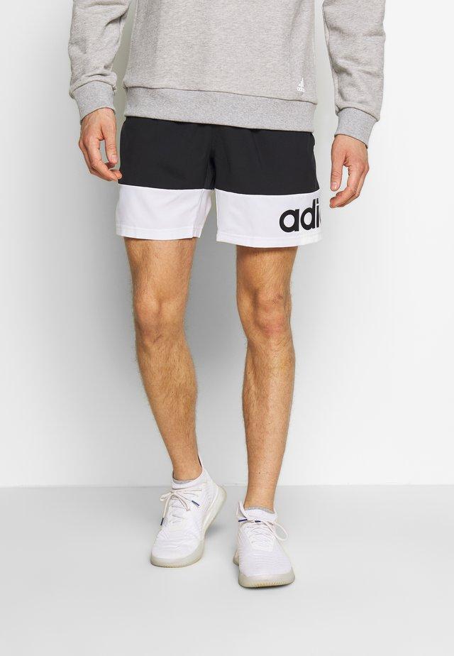 Pantalón corto de deporte - black/white