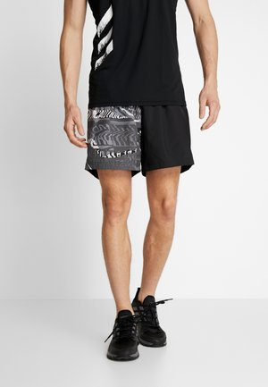 OWN THE RUN - Sports shorts - black/greone/gresix