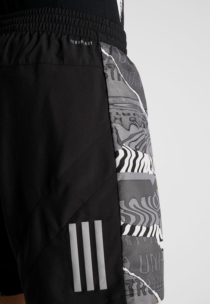 adidas Performance OWN THE RUN - Sports shorts - black/greone/gresix