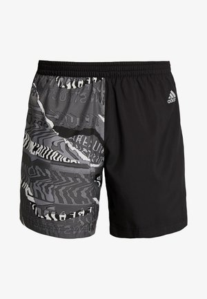 OWN THE RUN - Pantalón corto de deporte - black/greone/gresix