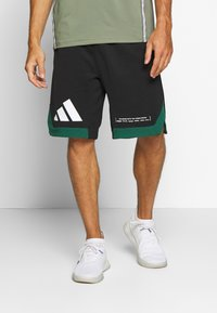 adidas Performance - PACK SHORT - kurze Sporthose - black/green - 0