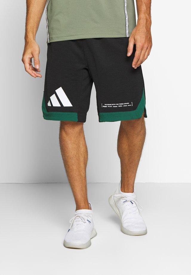PACK SHORT - Sports shorts - black/green