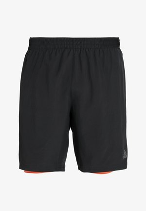 OWN THE RUN 2N1 - kurze Sporthose - black/solred