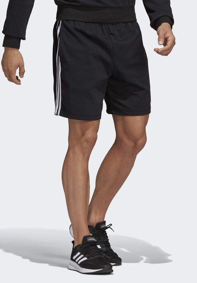 ESSENTIALS 3-STRIPES SHORTS - Short de sport - black