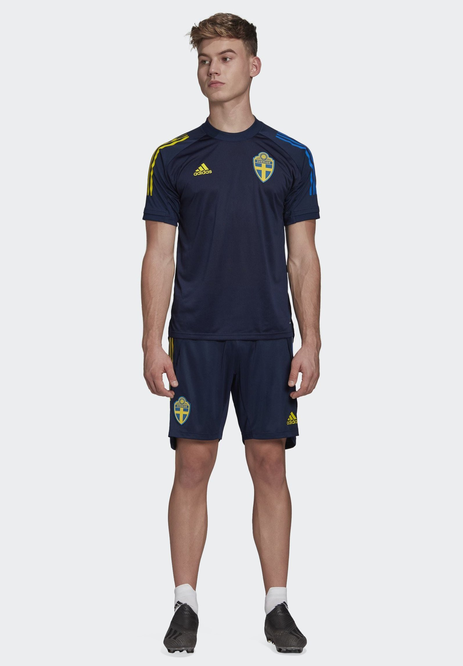 Adidas Performance Sweden Svff Training Shorts - Träningsshorts Blue
