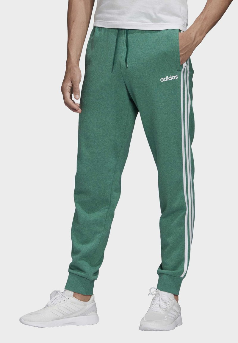 adidas Performance - ESSENTIALS 3-STRIPES TAPERED CUFFED JOGGERS - Tracksuit bottoms - green