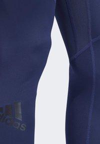 adidas Performance - ALPHASKIN SPORT LONG TIGHTS - Tights - tech indigo - 4