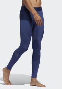 adidas Performance - ALPHASKIN SPORT LONG TIGHTS - Tights - tech indigo - 3
