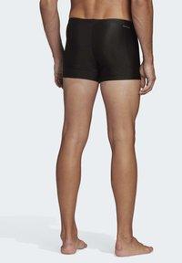 adidas Performance - STRIPES SWIM BRIEFS - Zwemshorts - black - 1