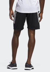adidas Performance - STRIPES 9-INCH SHORTS - Träningsshorts - black - 2