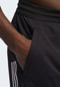 adidas Performance - STRIPES 9-INCH SHORTS - Träningsshorts - black - 4