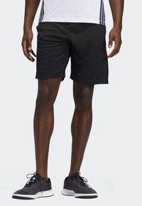 adidas Performance - STRIPES 9-INCH SHORTS - Träningsshorts - black - 0