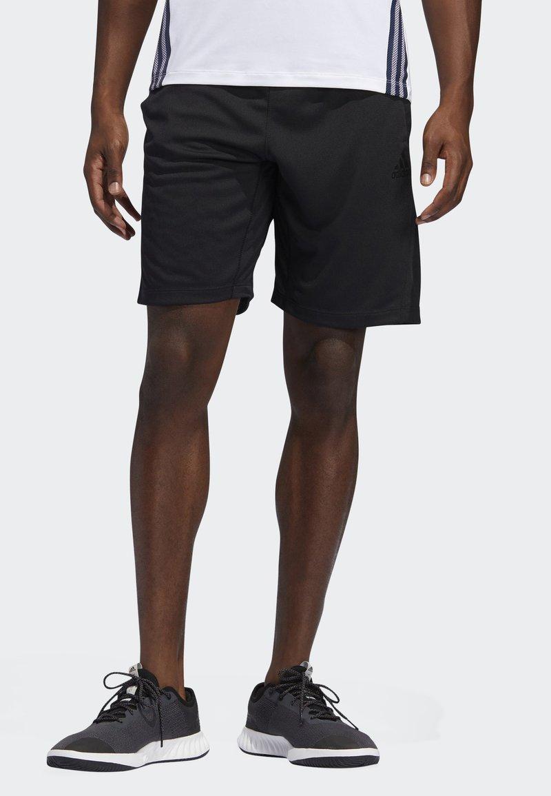 adidas Performance - STRIPES 9-INCH SHORTS - Träningsshorts - black