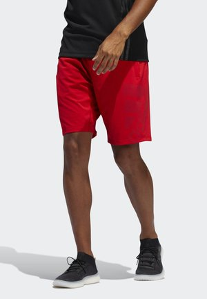 4KRFT SPORT GRAPHIC SHORTS - Sports shorts - red