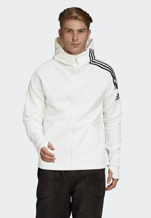 ADIDAS Z.N.E. 3-STRIPES HOODIE - Sweatjacke - white