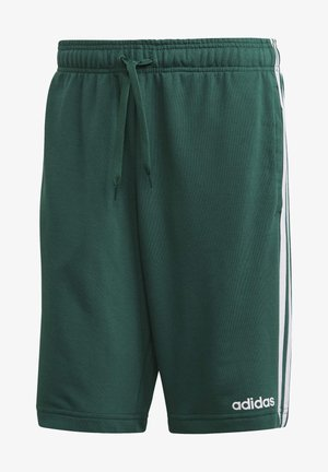 ESSENTIALS 3-STRIPES FRENCH TERRY SHORTS - Korte broeken - green